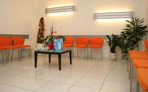 La sala d'aspetto di Alfamed Tolmezzo