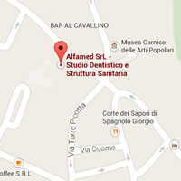 Google Map Alfamed Tolmezzo