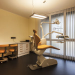 Sala gialla, studio dentistico Alfamed di Codroipo