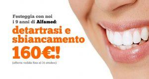 Rimozione del tartaro e sbiancamento dentale a soli 160€